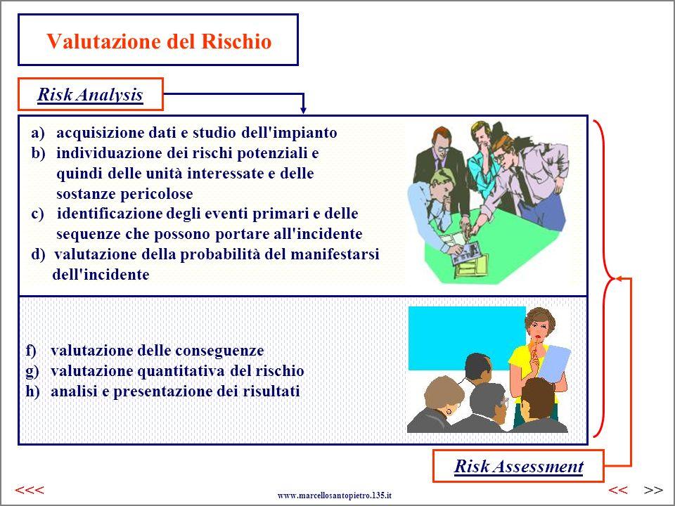 Valutazione del Rischio a)acquisizione dati e studio dell'impianto b)individuazione dei rischi potenziali e quindi delle unità interessate e delle sos