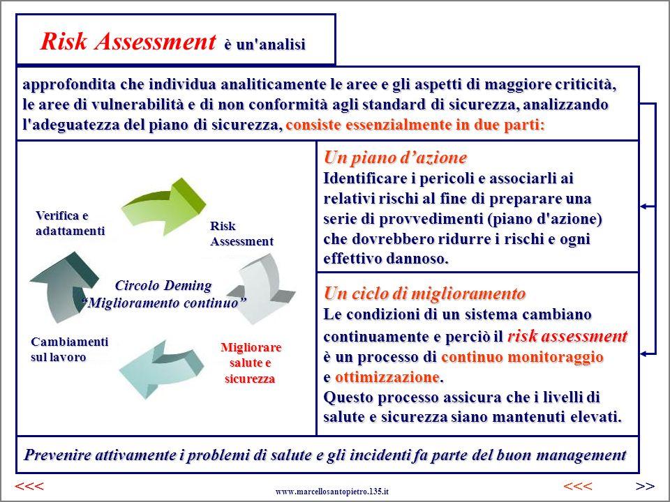 è un'analisi Risk Assessment è un'analisi approfondita che individua analiticamente le aree e gli aspetti di maggiore criticità, le aree di vulnerabil