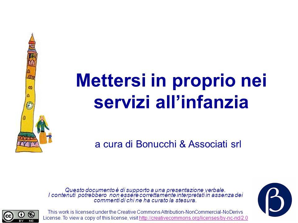 Mettersi in proprio nei servizi all infanzia 61 Alcuni grandi istituti di ricerca Italia –Assirm http://www.assirm.it/http://www.assirm.it/ http://www.acnielsen.it/ http://www.research-int.com/ http://www.peopleswg.it/ Europa –Esomar http://www.esomar.com/http://www.esomar.com/ Usa –Casro http://www.casro.org/http://www.casro.org/ Council for Marketing and Opinion Research http://www.cmor.org/ http://www.cmor.org/ NPD http://www.npdor.comhttp://www.npdor.com