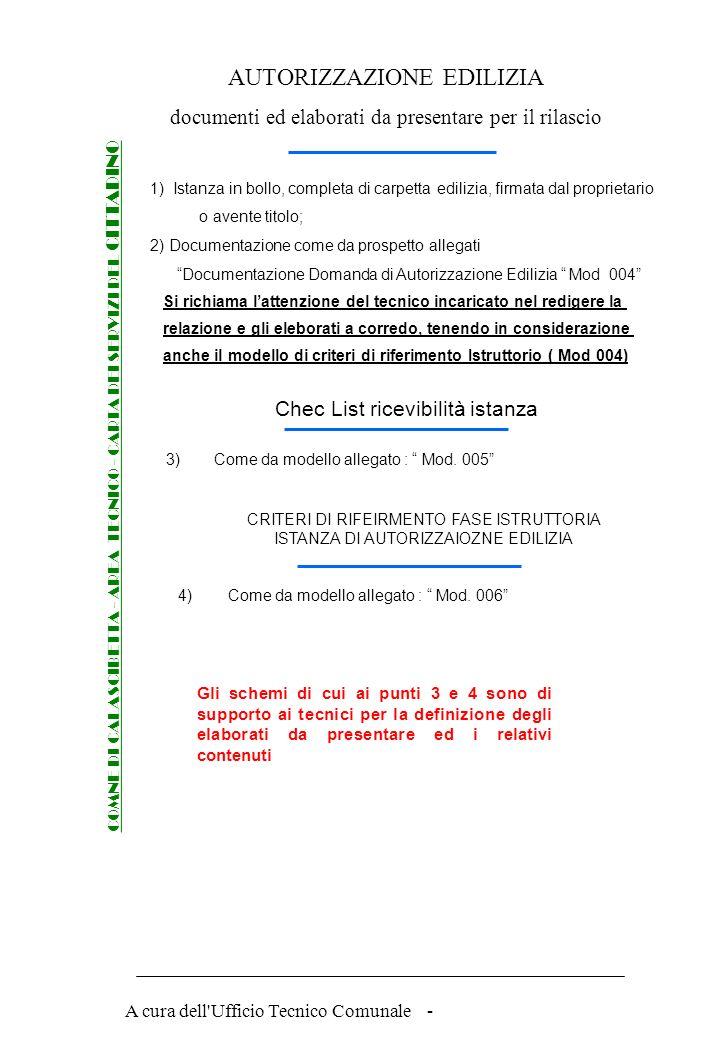 A cura dell'Ufficio Tecnico Comunale - Procedure per rilascio della AUTORIZZAZIONE EDILIZIA COMNE DI CALASCIBETTA - AREA TECNICO - CARTA DEI SERVIZI D
