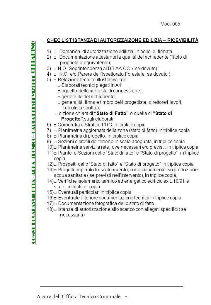 A cura dell'Ufficio Tecnico Comunale - Mod. 004 COMNE DI CALASCIBETTA - AREA TECNICO - CARTA DEI SERVIZI DEL CITTADINO AUTORIZZAZIONE EDILIZIA – DOMAN