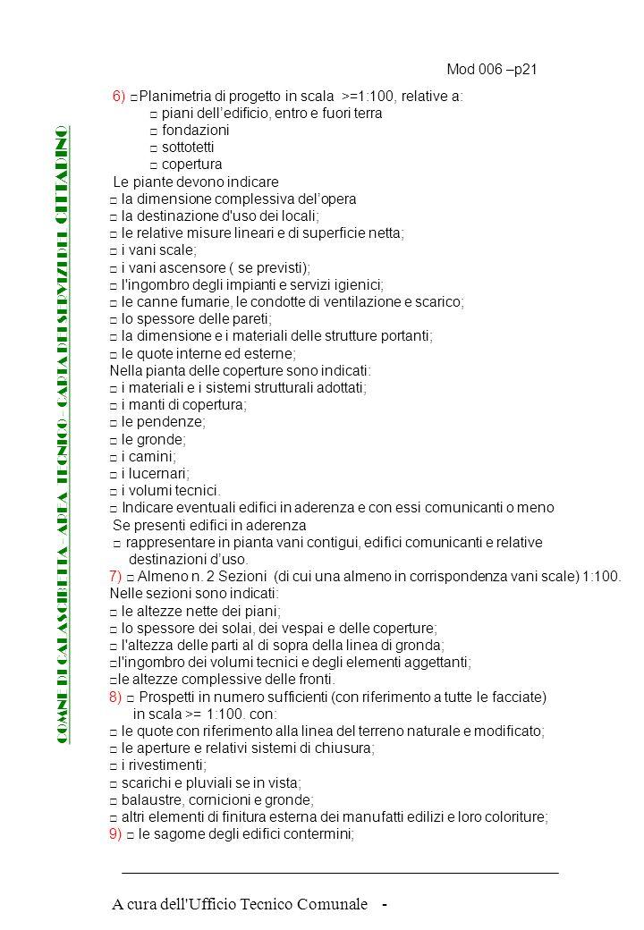 A cura dell'Ufficio Tecnico Comunale - Mod 006 –p.1 COMNE DI CALASCIBETTA - AREA TECNICO - CARTA DEI SERVIZI DEL CITTADINO CRITERI DI RIFEIRMENTO FASE