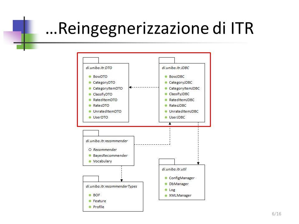 …Reingegnerizzazione di ITR 6/16