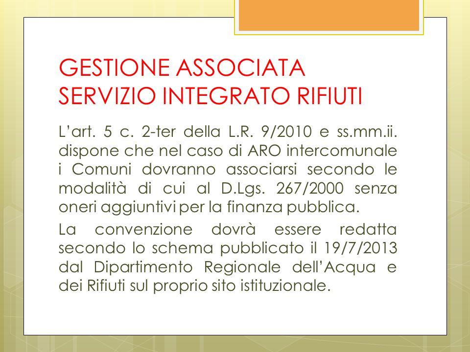 GESTIONE ASSOCIATA SERVIZIO INTEGRATO RIFIUTI Lart.