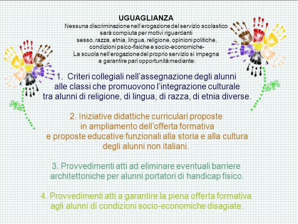 IMPARZIALITA E REGOLARITA 2.1 I soggetti erogatori del servizio scolastico agiscono secondo criteri di obiettività ed equità.