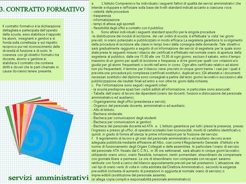 CONDIZIONI AMBIENTALI DELLA SCUOLA LIstituto Comprensivo L.