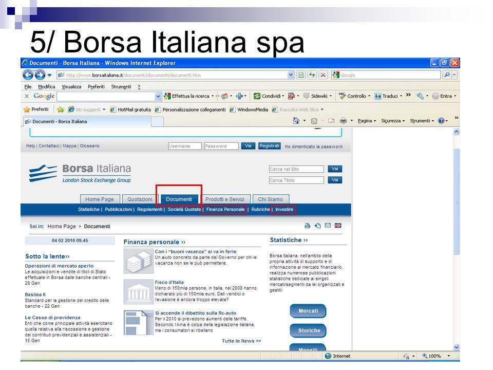 5/ Borsa Italiana spa