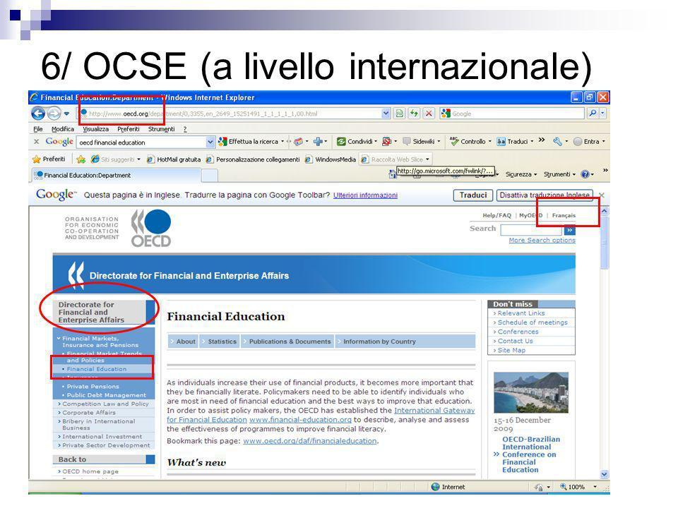 6/ OCSE (a livello internazionale)