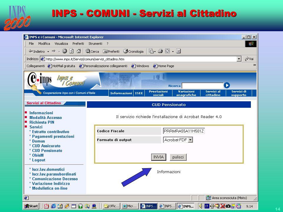 14 INPS - COMUNI - Servizi al Cittadino