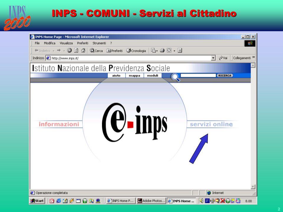 23 INPS - COMUNI - Servizi al Cittadino