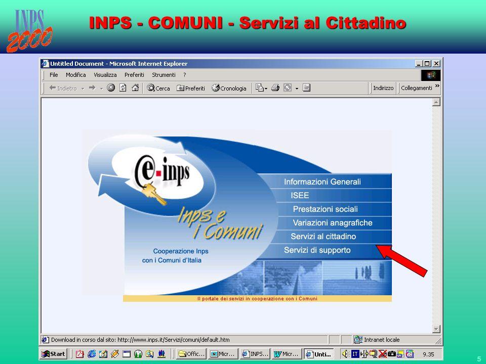 16 INPS - COMUNI - Servizi al Cittadino