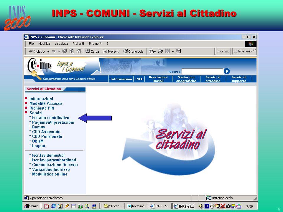 17 INPS - COMUNI - Servizi al Cittadino