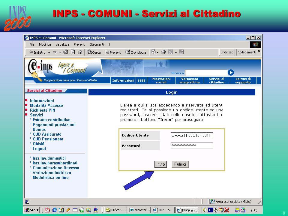 19 INPS - COMUNI - Servizi al Cittadino