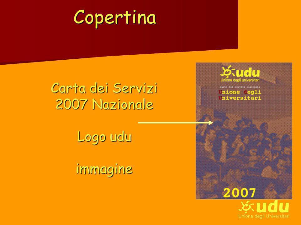 Copertina Carta dei Servizi 2007 Nazionale Logo udu immagine