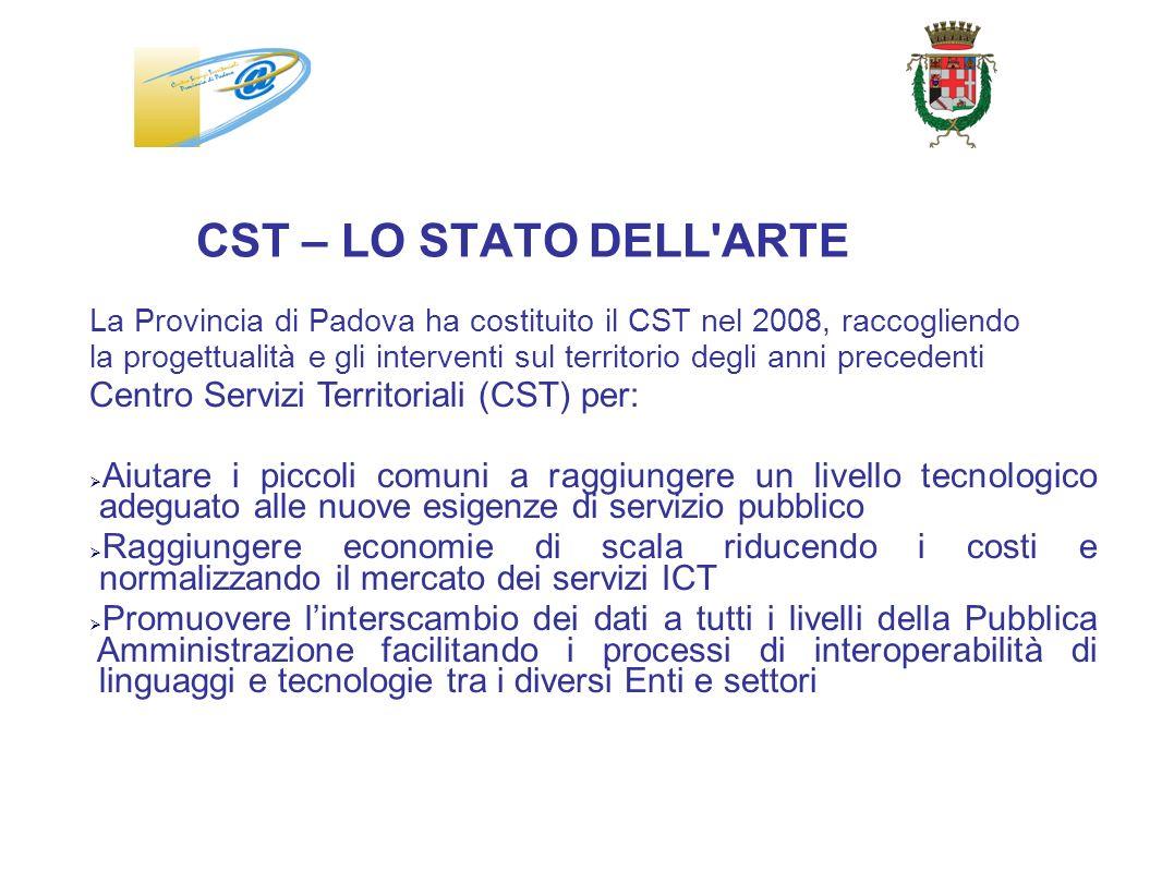 La Provincia di Padova ha costituito il CST nel 2008, raccogliendo la progettualità e gli interventi sul territorio degli anni precedenti Centro Servi