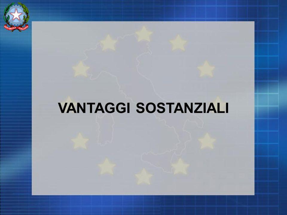 VANTAGGI SOSTANZIALI