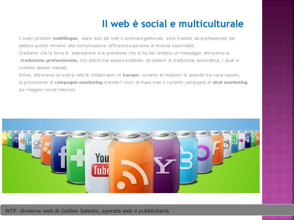 I nostri prodotti multilingue, siano essi siti web o software gestionali, sono tradotti da professionisti del settore poiché miriamo alla comunicazione efficace tra persone di diverse nazionalità.