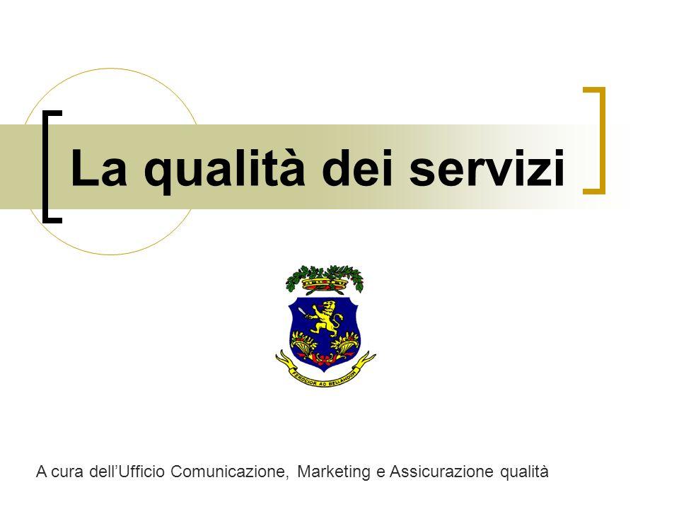 La qualità dei servizi A cura dellUfficio Comunicazione, Marketing e Assicurazione qualità