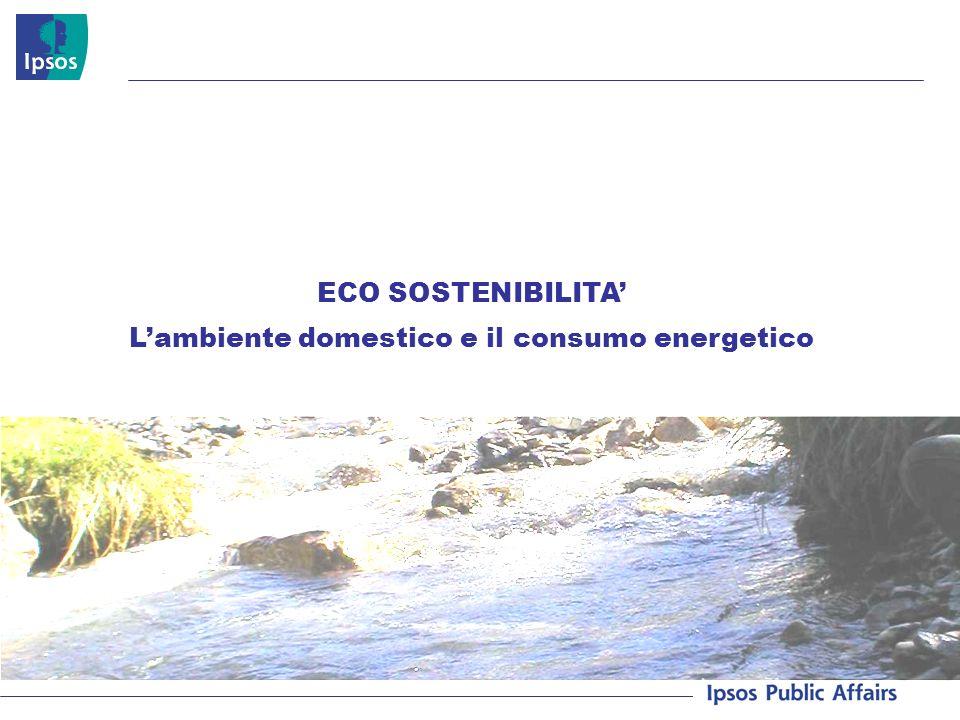 ECO SOSTENIBILITA Lambiente domestico e il consumo energetico
