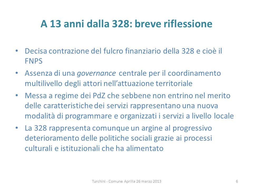Lerogazione dei servizi nella 328 Art.