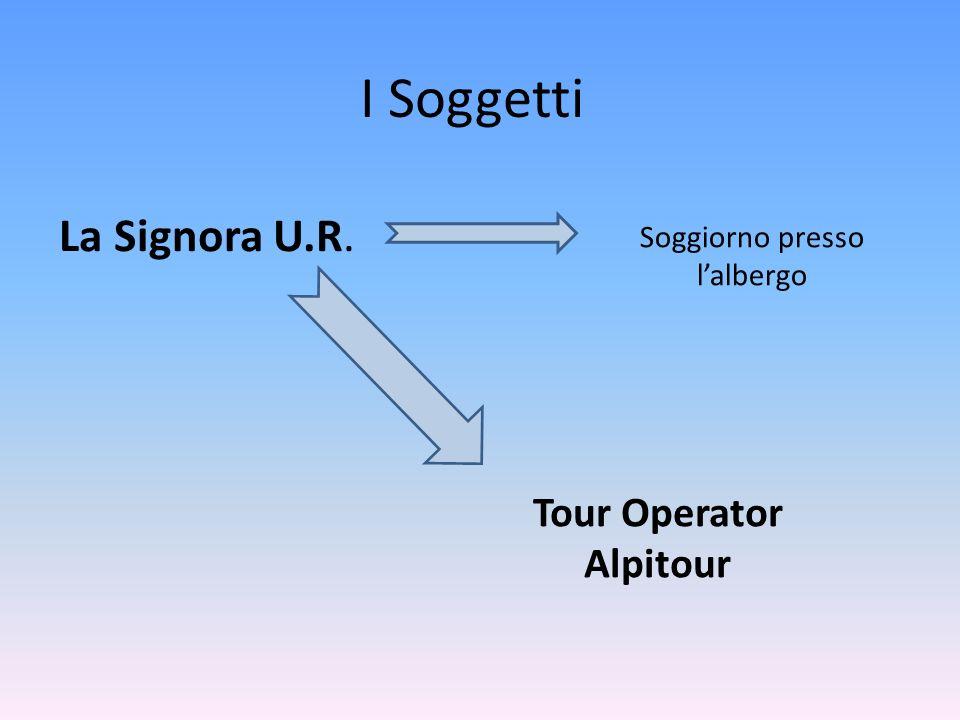 I Soggetti La Signora U.R. Soggiorno presso lalbergo Tour Operator Alpitour