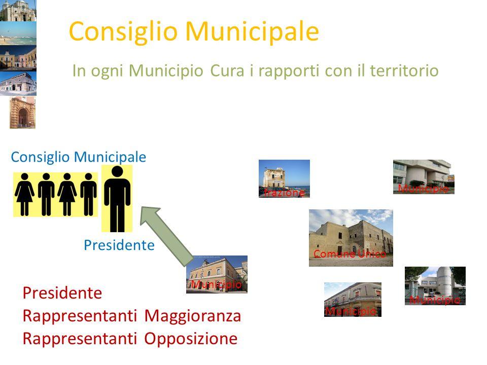 Comune Unico frazione Municipio Consiglio Municipale Canali di rapporto con il Territorio