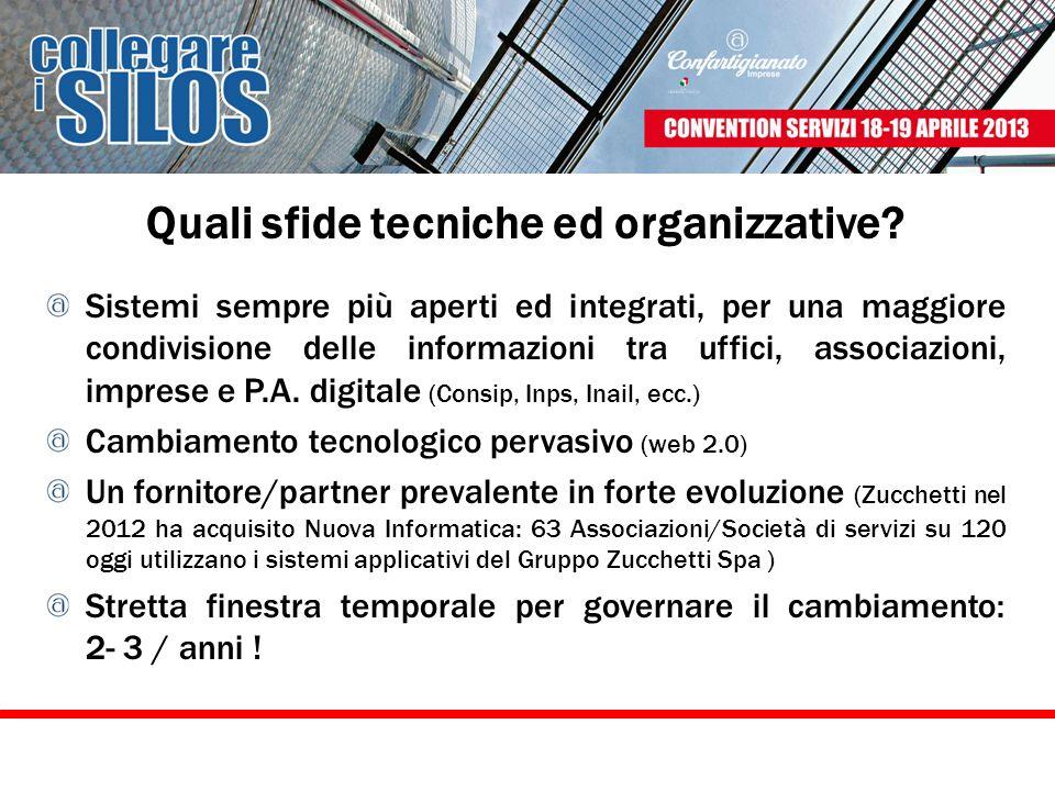 Quali sfide tecniche ed organizzative? Sistemi sempre più aperti ed integrati, per una maggiore condivisione delle informazioni tra uffici, associazio