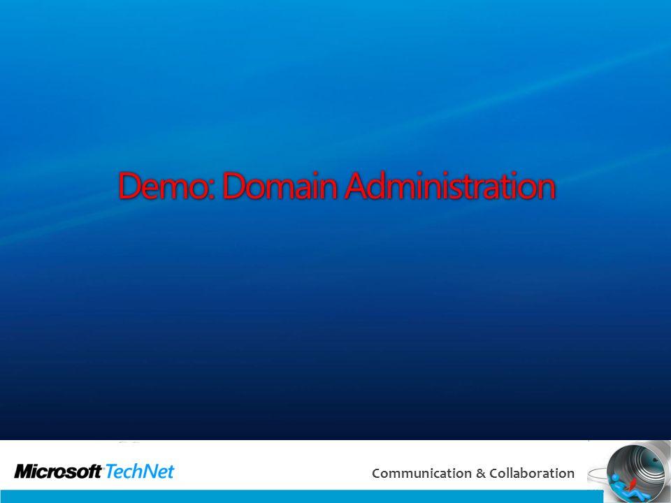 35 Communication & Collaboration Demo: Domain Administration