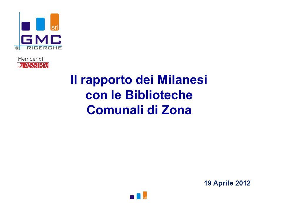 Member of Il rapporto dei Milanesi con le Biblioteche Comunali di Zona 19 Aprile 2012