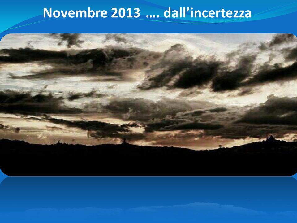 …. dallincertezza Novembre 2013