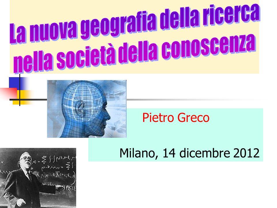 Pietro Greco Milano, 14 dicembre 2012