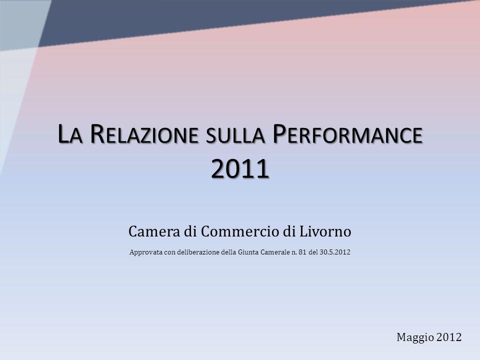 L A R ELAZIONE SULLA P ERFORMANCE 2011 Camera di Commercio di Livorno Approvata con deliberazione della Giunta Camerale n. 81 del 30.5.2012 Maggio 201