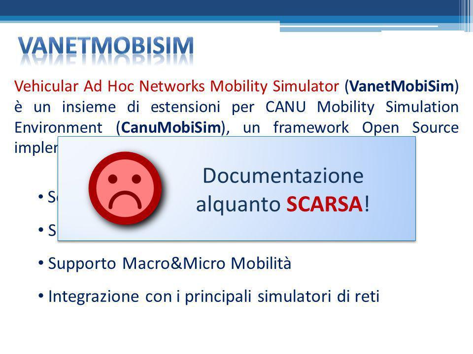 Vehicular Ad Hoc Networks Mobility Simulator (VanetMobiSim) è un insieme di estensioni per CANU Mobility Simulation Environment (CanuMobiSim), un fram
