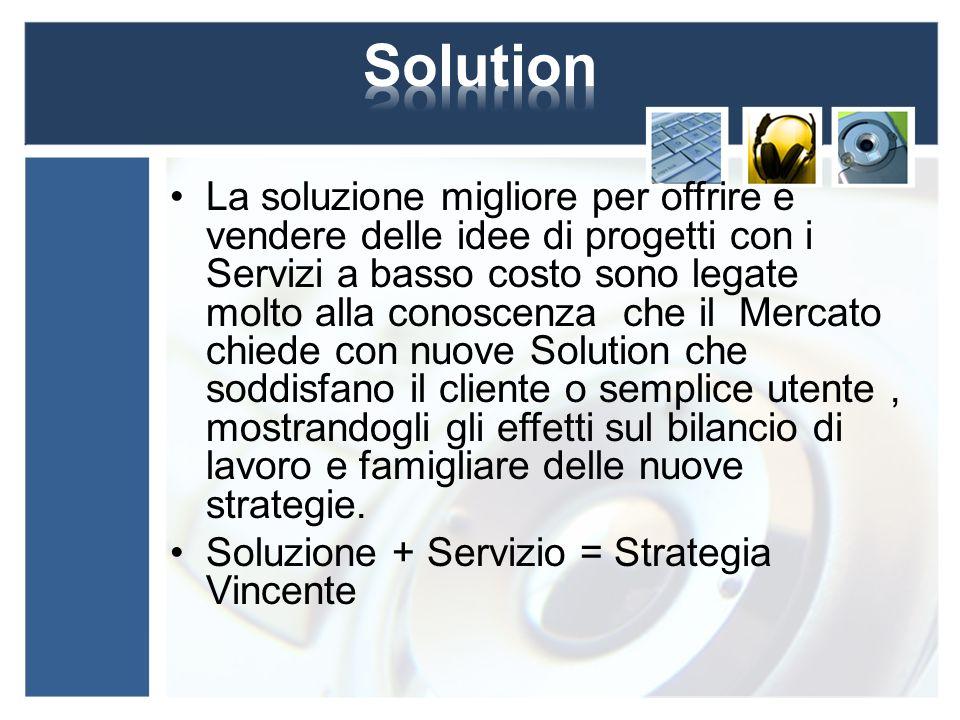 La soluzione migliore per offrire e vendere delle idee di progetti con i Servizi a basso costo sono legate molto alla conoscenza che il Mercato chiede