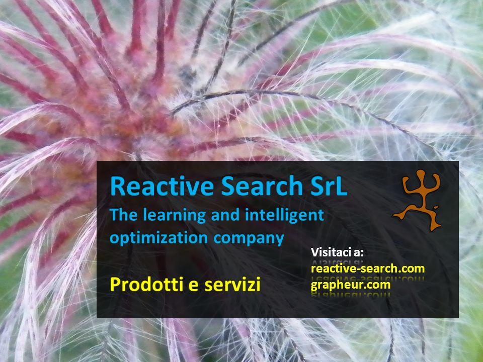 Prodotti e servizi Grapheur - take the plunge to Reactive Business Intelligence Reactive Search Optimization (RSO) software da inserire in prodotti/servizi di terze parti Consulenza