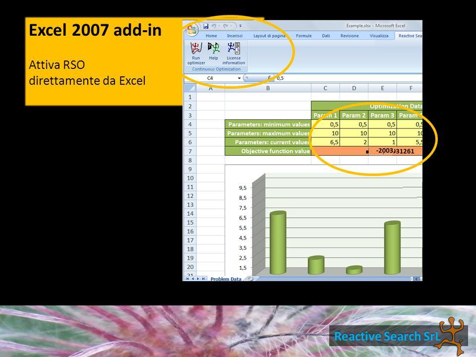 Excel 2007 add-in Attiva RSO direttamente da Excel