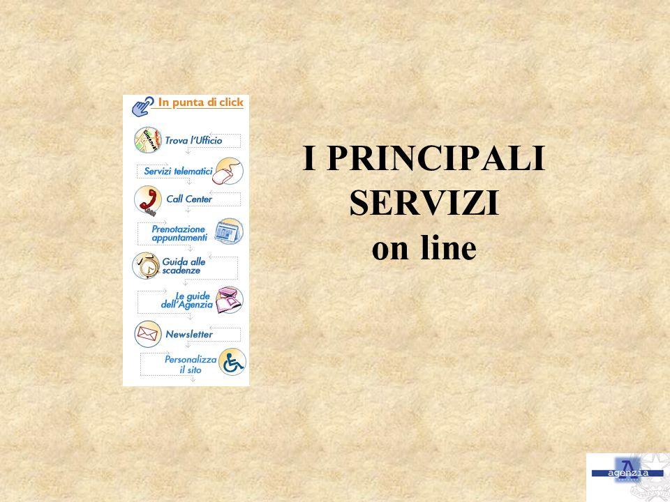 I PRINCIPALI SERVIZI on line