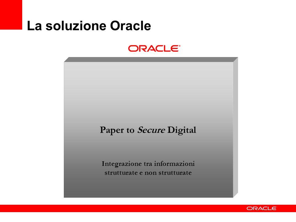 Paper to Secure Digital Integrazione tra informazioni strutturate e non strutturate La soluzione Oracle