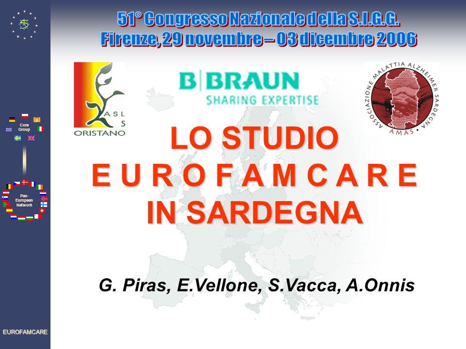 Pan- European Network Core Group EUROFAMCARE LO STUDIO E U R O F A M C A R E IN SARDEGNA G.