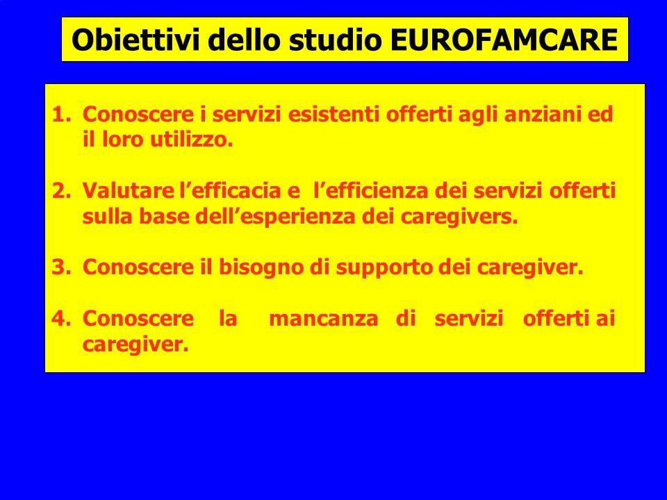 Obiettivi dello studio EUROFAMCARE 1.