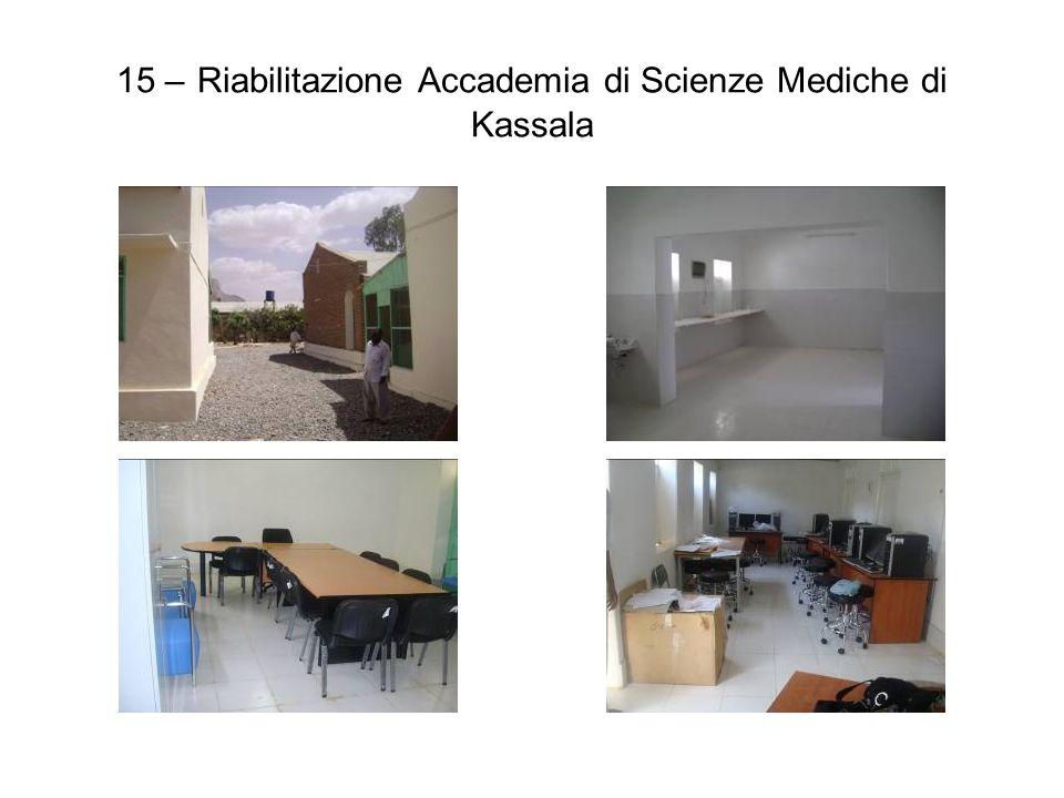 15 – Riabilitazione Accademia di Scienze Mediche di Kassala