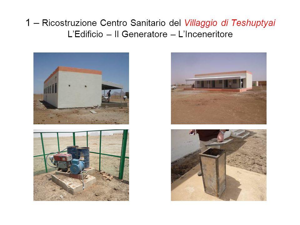 1 – Ricostruzione Centro Sanitario del Villaggio di Teshuptyai LEdificio – Il Generatore – LInceneritore