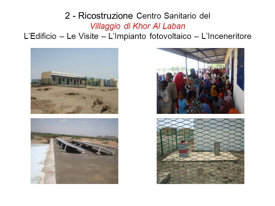 2 - Ricostruzione Centro Sanitario del Villaggio di Khor Al Laban LEdificio – Le Visite – LImpianto fotovoltaico – LInceneritore