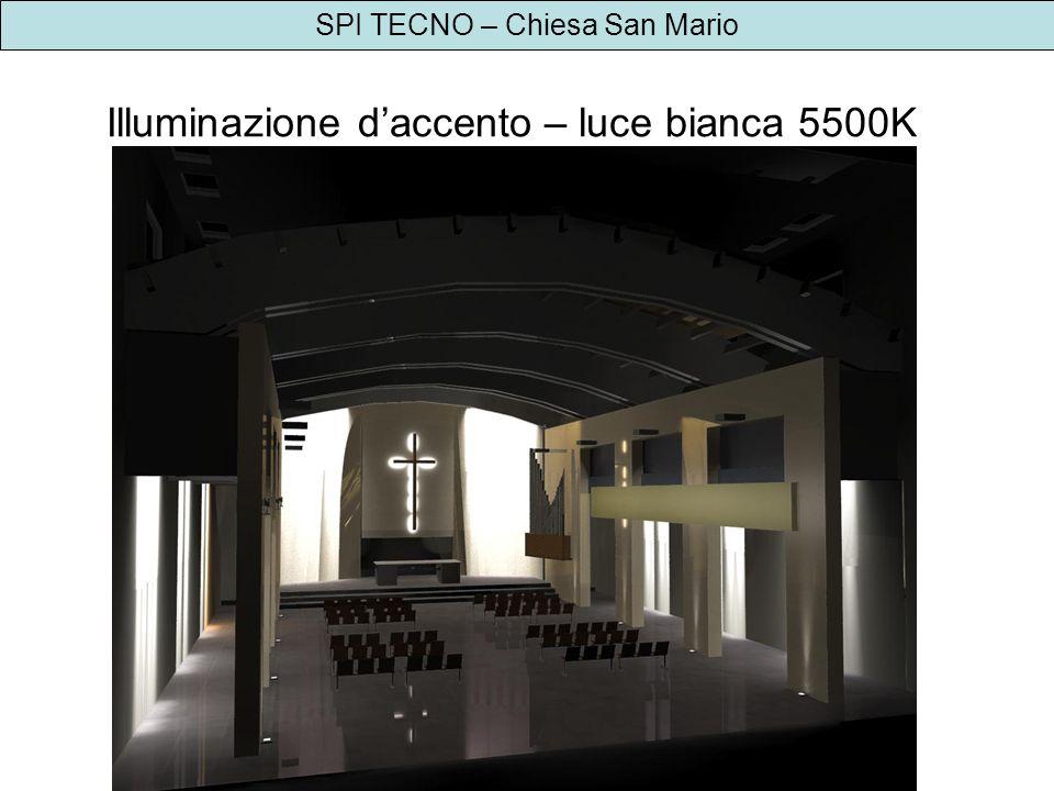 SPI TECNO – Chiesa San Mario Illuminazione daccento – luce bianca 5500K