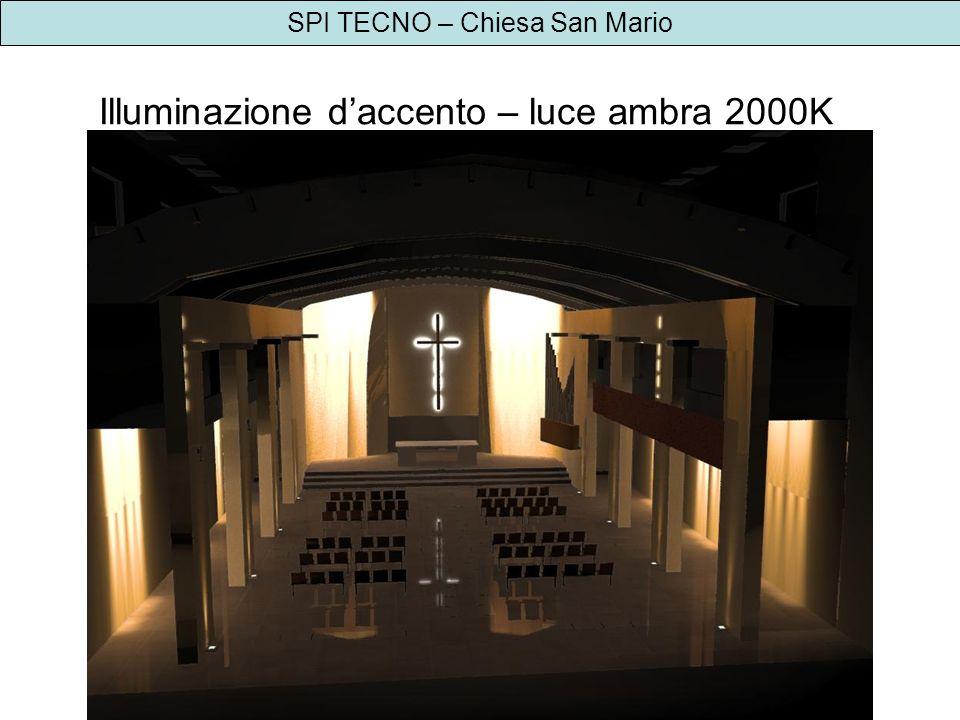 SPI TECNO – Chiesa San Mario Illuminazione daccento – luce ambra 2000K