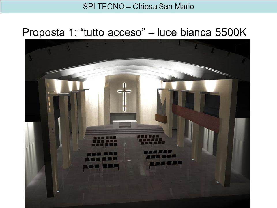 SPI TECNO – Chiesa San Mario Proposta 1: tutto acceso – luce bianca 5500K