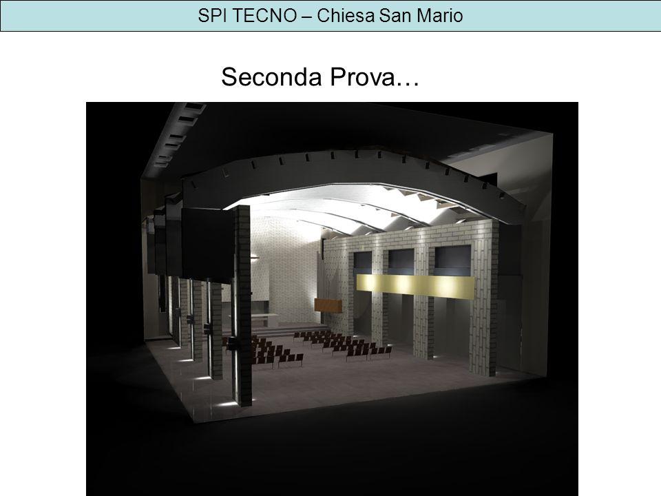 SPI TECNO – Chiesa San Mario Proposta 3: tutto acceso – luce bianca 5500K e luce ambra daccento 2000K