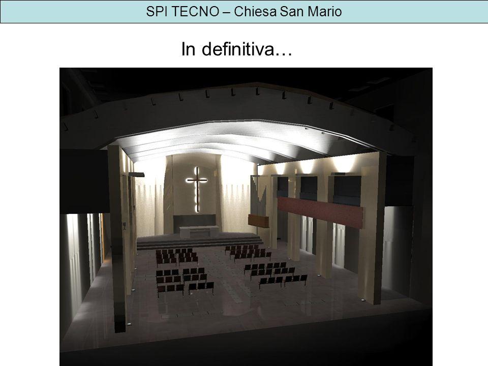 SPI TECNO – Chiesa San Mario Risultati illuminotecnici proposta 3 - platea