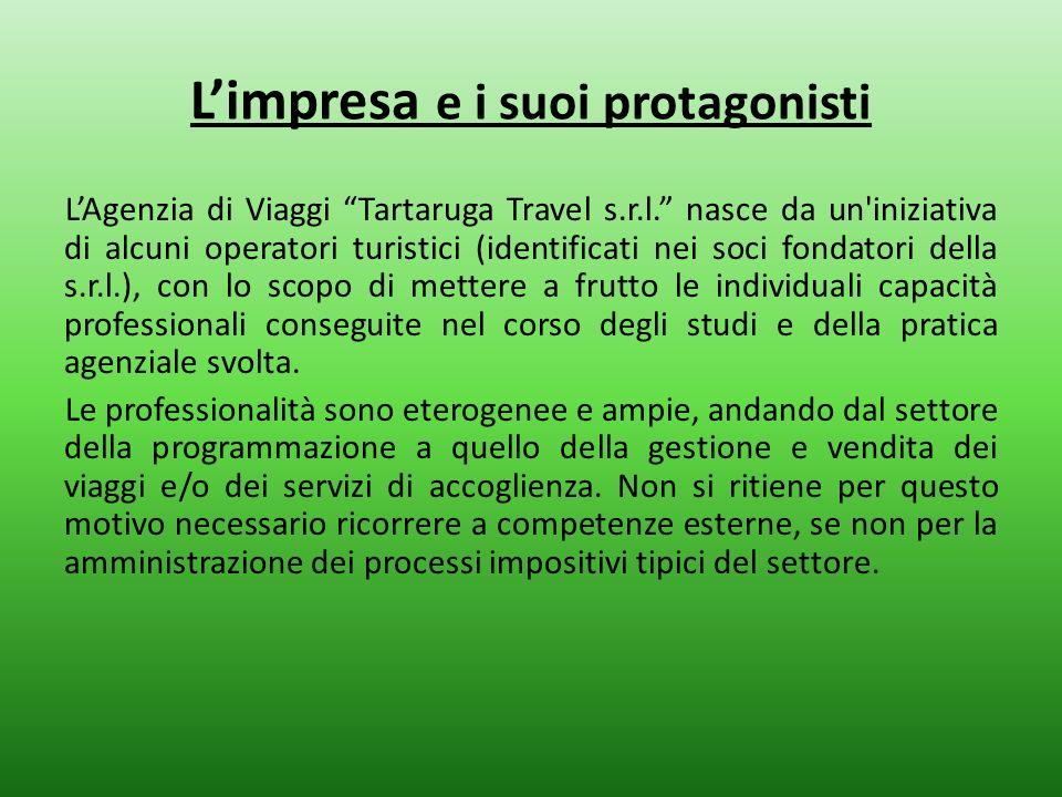 Limpresa e i suoi protagonisti LAgenzia di Viaggi Tartaruga Travel s.r.l. nasce da un'iniziativa di alcuni operatori turistici (identificati nei soci