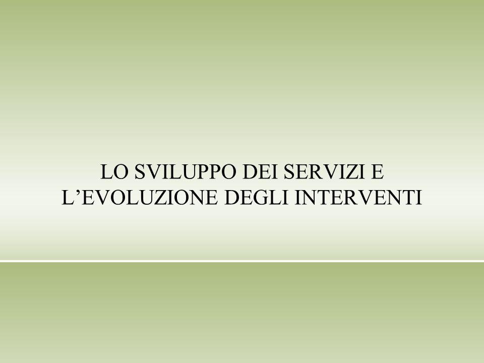 LO SVILUPPO DEI SERVIZI E LEVOLUZIONE DEGLI INTERVENTI